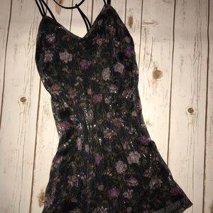 Dresses & Skirts - Sequin Floral Print Dress